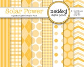 Digital Scrapbook Paper Pack - Solar Power - Pantone Spring Collection