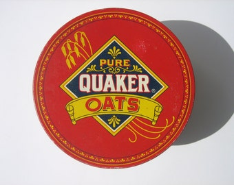 Vintage Quaker Oats Tin