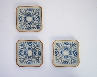 Blue & Orange Trinket Dishes