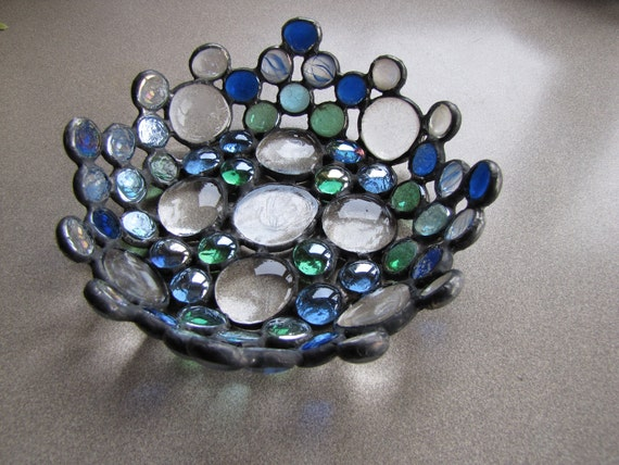 Stained Glass Bowl made from Recycled Glass
