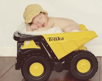 Baby Boy Crochet Construction Hat