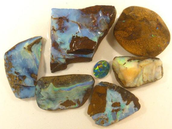 Reserved for Khristy  Australian Boulder Opal Free Form. 6 pieces. item 797.