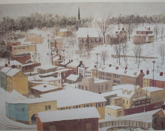 Historic Ellicott City - Limited Edition Print - Overview of Town in snow