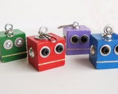 Chunky robot Backpack Buddies - bag decoration choose one color