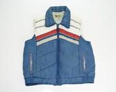 Vintage 80s Retro Red, White & Blue Vest