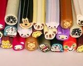 Polymer Fimo Clay Cane Animal Assorted Slices Kawaii Miniature Scrapbooking Decoration Nail Art (120 pcs) GM-1CG1