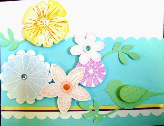 Happy Birthday Best Wishes Blue Flower Card