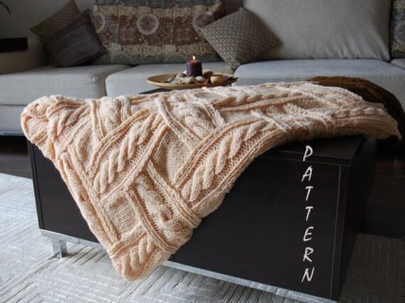 Patchwork Knitting Cozy Blanket - pdf knitting pattern