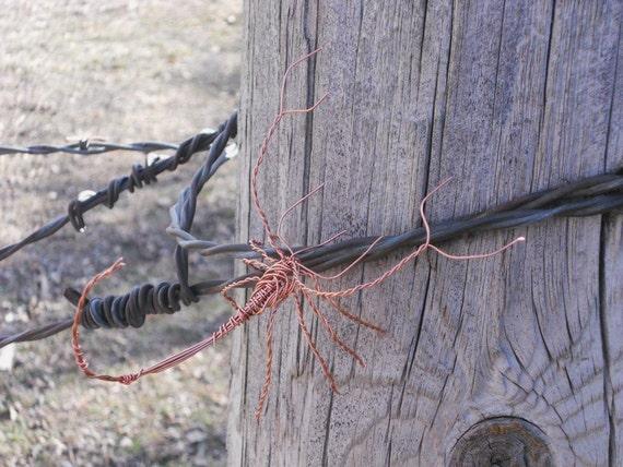 Copper Scorpion Wire Wrap Sculpture Small Metal Sculpture Plant Decoration
