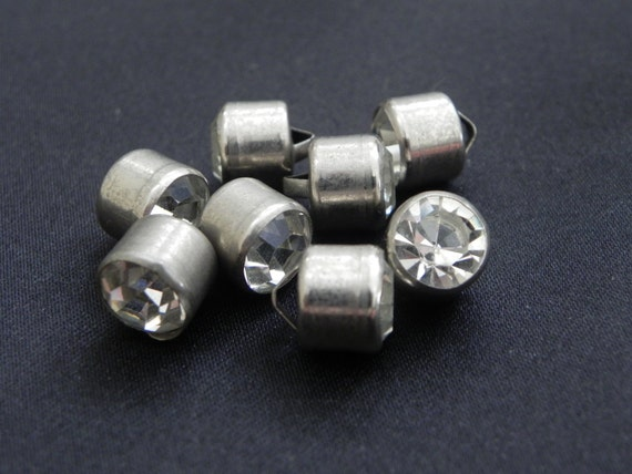 Vintage Single Rhinestone Buttons