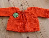 Knitted coat for waldorf dolls ,17 inch doll, jacket handknitted,
