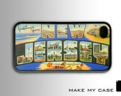 Vintage New Jersey Postcard : iPhone 4 Case, iPhone 4s Case, iPhone 4 Hard Case, iPhone Case