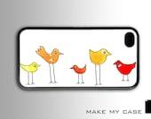Funky Birds : iPhone 4 Case, iPhone 4s Case, iPhone 4 Hard Case, iPhone Case