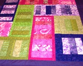 Batik Ladders and Stripes Quilt