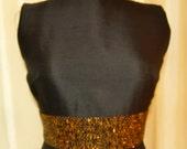 Darby Scott Mod Classic Black Cocktail Dress V Back