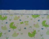 "Personalized Baby Blanket Lightweight, Green Stroller, Girl and Boy, Custom Embroidered, 30"" x 40"""