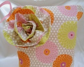 "Large Zipper Wet Bag, Pink Yellow Orange Flowers, 13"" x 16"", Babies and Toddlers,"