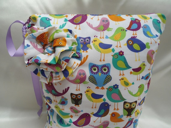 "Baby Wet Bag Large, Birds and Owls, 13"" x 16"", Babies and Toddlers,"