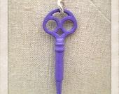 Little Purple Vintage Key Necklace
