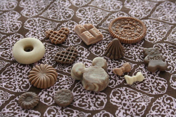 Sweet Deco Kit Chocolate Fudge Miniature Food Set Of 13pcs LOT