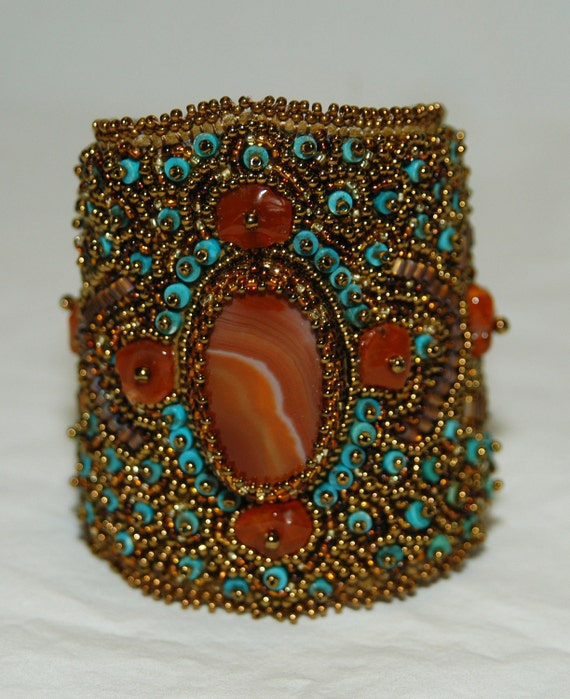 Helen of Troy Beaded Embroidery Cuff