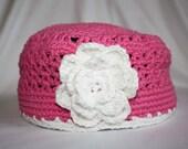 Child's Crochet Flower Hat