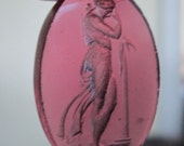 Venetian Glass Intaglio or Cameo Muse Named Polymnia  Loose Stone