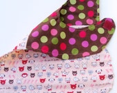BABY BIB cats and dots stylish baby bib by Shiny K