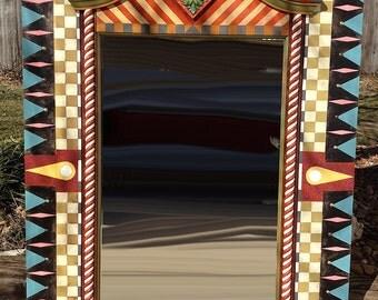 Hand Painted Dresser Mirror