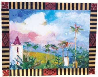 Original Acrylic Painting of Hana Morning Moon