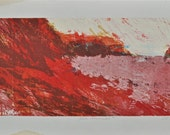 "Reserved for Christopher. Vintage serigraph by Robert Alan Smith "" Red Seascape"" 1960."