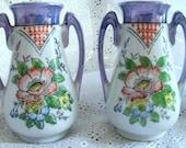 Art Deco Lusterware Handpainted Vase