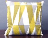 SALE Multi-Colour Geometric & Magenta Handmade 16x16 Pillow Cover