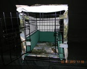 Custom Kennel Covers with matching bumper pads and floor pad