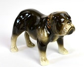 Bulldog Figurine - Sarge by Robert Simmons, Hand Painted Ceramic Dog - Collectible or Vintage Home Decor