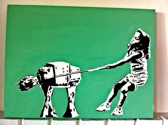 Star Wars- Girl walking At At