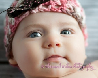 Cotton Mesh Hat with Lace Up Bow