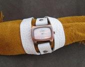 Leather 3X wrap Watch bracelet