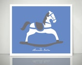 "ROCKING HORSE 8x10"" Children's Giclee Print"