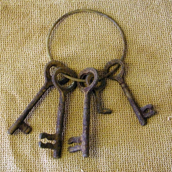 Keys Keys Keys - Rustic Iron Cabin Decor - These Guys Are Rusty