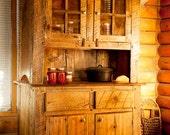 Custom rustic barn wood hutch or pie safe
