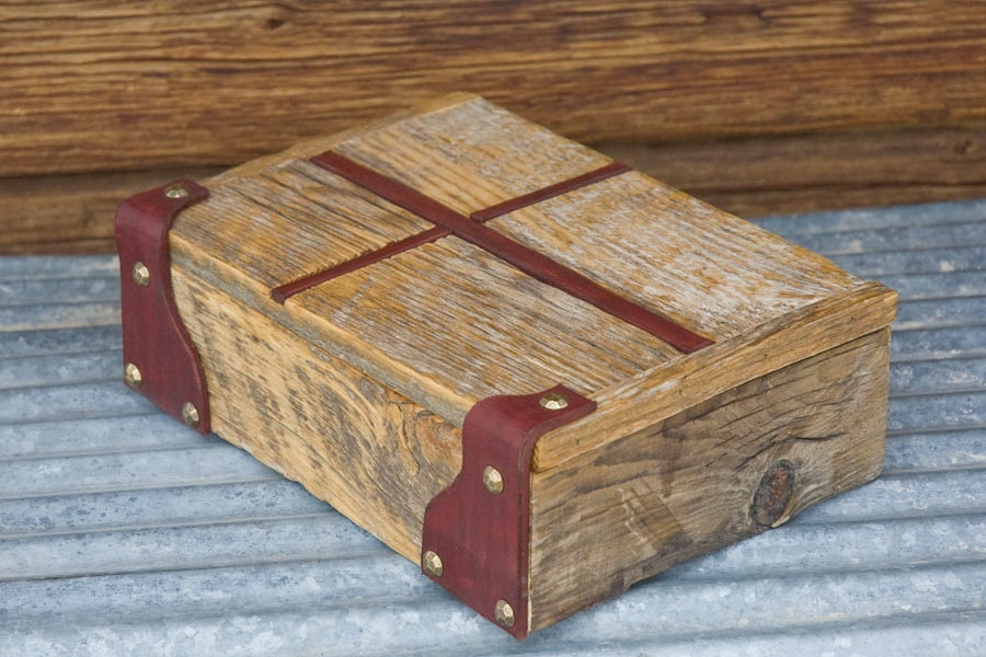 Rustic Barn Wood Rapture Bible Box With By Therustyironranch