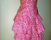 Designer A. J. Bari Pink/White Bustier