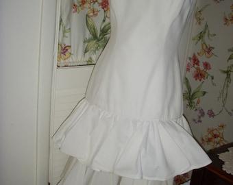 Spaghetti Strap Lillie Rubin Flounced Dress With Bolero Jacket