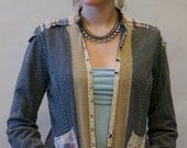 SHOP FOR A CAUSE Free People Homespun Grey Flannel Jacket