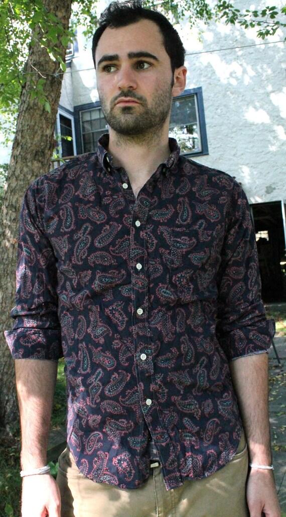 SHOP FOR A CAUSE: Indigo Paisley Men's Button Up