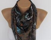On Sale. Summer SCARF. Fashion Scarf. Headband. Necklace. For 4 seasons.Brown.Orange.Blue.