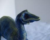 Art Doll Dinosaur Animal Sculpture Blue Dinosaur Toy named Gordon