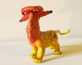 Reserved for Baby Luna (6) Little Red Dragon - Handmade Art Doll - Artist Toy- OOAK