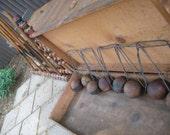 Vintage Croquet Set in Wooden Box